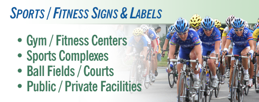 Sports / Fitness Signs and Labels